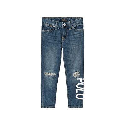Ralph Lauren Denim Jeans med Logo Blå 8 years - Børnetøj - Ralph Lauren