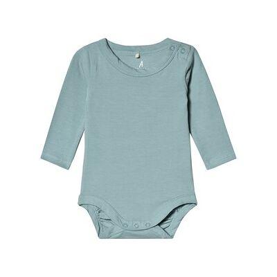 A Happy Brand Long Sleeve Baby Body Sky Blue 86/92 cm - Børnetøj - A Happy Brand
