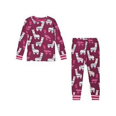 Hatley Alpacas Pyjamas Mørk Pink 5 years - Børnetøj - Hatley