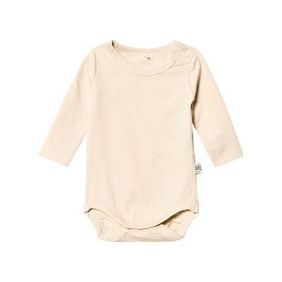 A Happy Brand Long Sleeve Baby Body Champagne 50/56 cm - Børnetøj - A Happy Brand