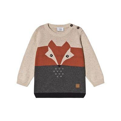 Hust&Claire; Pilou Sweater Wheat 74 cm (6-9 mdr) - Børnetøj - Hust&Claire