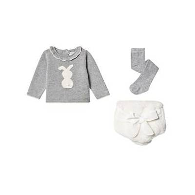 Mayoral Bunny Cardigan and Bloomers with Tights Set Grey/Cream 4-6 months - Børnetøj - Mayoral