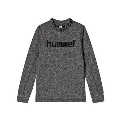 Hummel Ask Langærmet T-Shirt Medium Melange 104 cm (3-4 år) - Børnetøj - Hummel