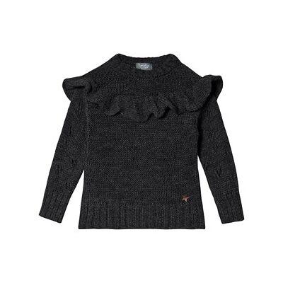 Tocoto Vintage Strik Sweater Mørk Grå 4 år - Børnetøj - Tocoto Vintage