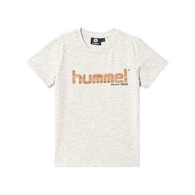 Hummel Leo T-Shirt Crème Melange 122 cm (6-7 år) - Børnetøj - Hummel