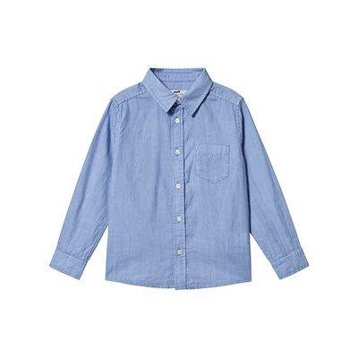 Cyrillus Boule Skjorte med Lomme Blå 8 years - Børnetøj - Cyrillus