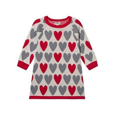 Hatley Festive Hearts Sweater Kjole Off White 10 years - Børnetøj - Hatley