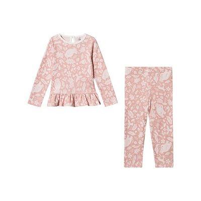 Mori Gruffalo Foxglove Ruffle Pajamas Pink 3-6 months - Børnetøj - Mori