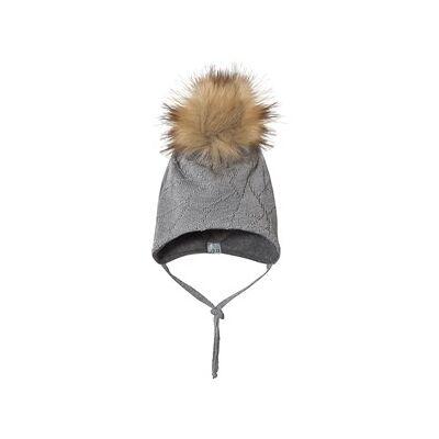 MP Geo Pompom Baby Hat Grey Marl 49 cm - Børnetøj - MP