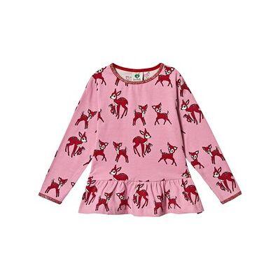Småfolk Deer Long Sleeve Tee Sea Pink 1-2 år - Børnetøj - Småfolk