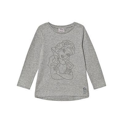 Wheat T-Shirt Snow White Rhinestones Grey Melange 98 cm (2-3 år) - Børnetøj - Wheat