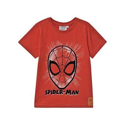 Wheat T-Shirt Spider Face Paprika 104 cm (3-4 år) - Børnetøj - Wheat