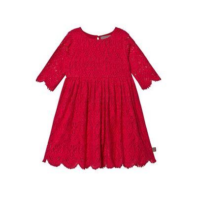 Creamie Lace Dress Crimson 134 cm (8-9 år) - Børnetøj - Creamie