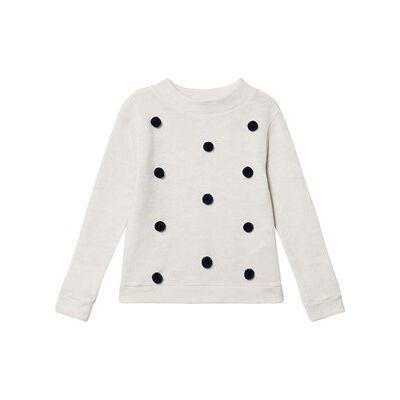 ebbe Kids Valerie Dot Sweater White/Navy Prikket 92 cm (1,5-2 år) - Børnetøj - ebbe Kids