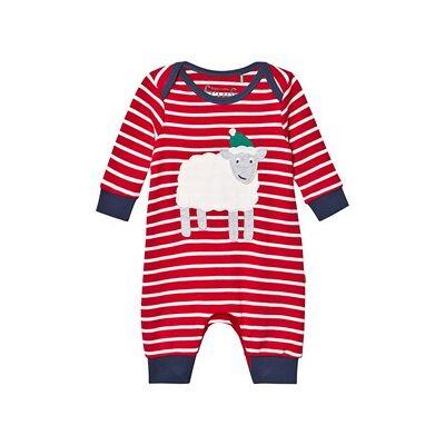 Frugi Breton Økologisk Jule Baby Bodysuit Rød 0-3 months - Børnetøj - Frugi