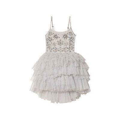 Tutu Du Monde Frozen in Time Embellished Tutu Dress Silver 10-11 years - Børnetøj - Tutu Du Monde
