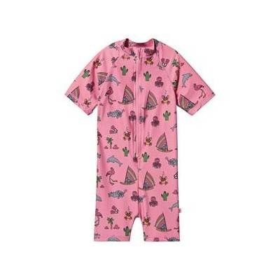 Småfolk UV50 Bade Sæt med Kort og Sea World Sea Pink 68 cm (6 months) - Børnetøj - Småfolk