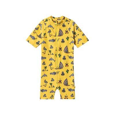 Småfolk UV Dragt UPF 50+ Sea World Print Yellow 86 cm (18 months) - Børnetøj - Småfolk