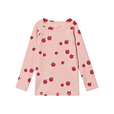 Småfolk Apple UV50 T-Shirt Pink Sølv 1-2 år - Børnetøj - Småfolk