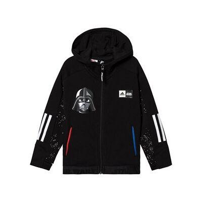 adidas Performance Star Wars Full Zip Hoodie Black 8-9 years (134 cm) - Børnetøj - adidas Performance