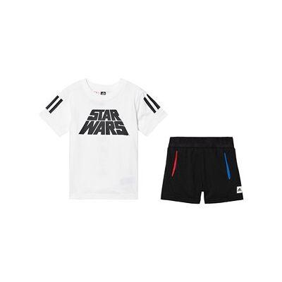 adidas Performance Star Wars Top & Shorts Sæt Hvid/Sort 2-3 years (98 cm) - Børnetøj - adidas Performance