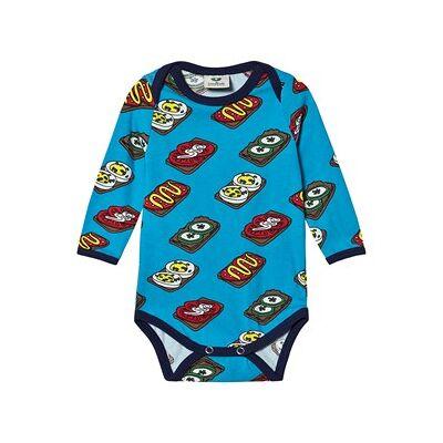 Småfolk Rugbrød Baby Body Ocean Blue 86 cm (1-1,5 år) - Børnetøj - Småfolk