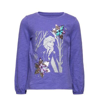 Gapkids Disney Frozen 2 Sequin T-Shirt Langærmet T-shirt Lilla GAP - Børnetøj - GAP