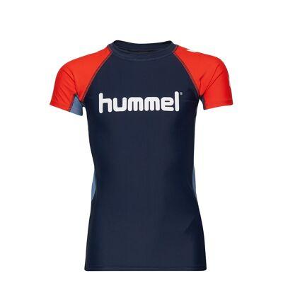 Hummel Hmlzab Swim Tee Swimwear UV Clothing UV Tops Blå Hummel - Børnetøj - Hummel