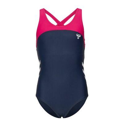 Hummel Hmlangel Swimsuit Badedragt Badetøj Blå Hummel - Børnetøj - Hummel