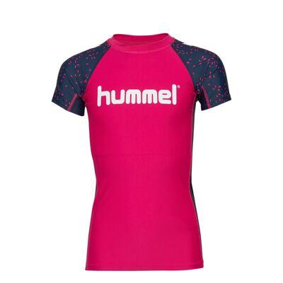 Hummel Hmloyster Swim Tee Swimwear UV Clothing UV Tops Lyserød Hummel - Børnetøj - Hummel