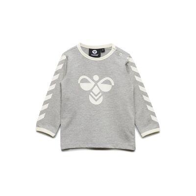Hummel Hmlfreddie T-Shirt L/S Langærmet T-shirt Grå Hummel - Børnetøj - Hummel