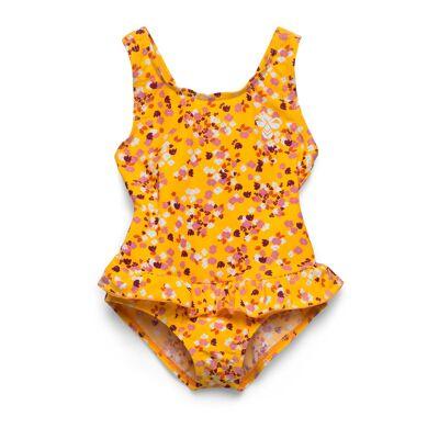 Hummel Hmlfilippa Swimsuit Badedragt Badetøj Gul Hummel - Børnetøj - Hummel