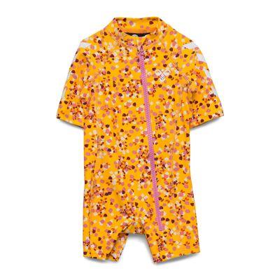 Hummel Hmlbeach Swimsuit Swimwear UV Clothing UV Suits Gul Hummel - Børnetøj - Hummel