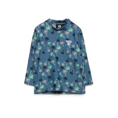 Hummel Hmlbeach Swim Tee L/S Swimwear UV Clothing UV Tops Blå Hummel - Børnetøj - Hummel