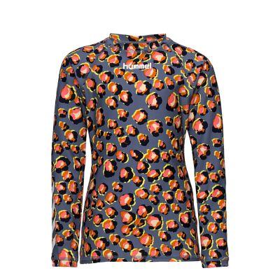 Hummel Hmlalana Swim Tee L/S Swimwear UV Clothing UV Tops Multi/mønstret Hummel - Børnetøj - Hummel