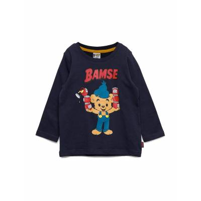 Lindex Top Ls Bamse Langærmet T-shirt Blå Lindex - Børnetøj - Lindex