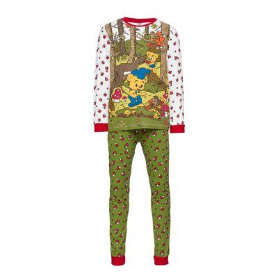 Lindex Pajama Sg Bamse Mushrooms Pyjamassæt Multi/mønstret Lindex - Børnetøj - Lindex