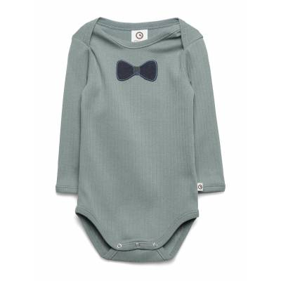 Müsli by Green Cotton Cozy Tie Body Bodies Long-sleeved Grøn Müsli By Green Cotton - Børnetøj - Müsli by Green Cotton