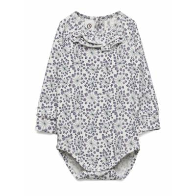 Müsli by Green Cotton Juncus Body Bodies Long-sleeved Multi/mønstret Müsli By Green Cotton - Børnetøj - Müsli by Green Cotton