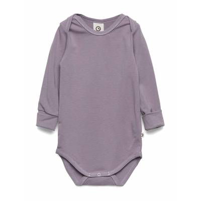 Müsli by Green Cotton Cozy Me Body Bodies Long-sleeved Lilla Müsli By Green Cotton - Børnetøj - Müsli by Green Cotton