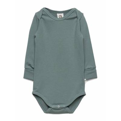 Müsli by Green Cotton Cozy Me Body Bodies Long-sleeved Grøn Müsli By Green Cotton - Børnetøj - Müsli by Green Cotton