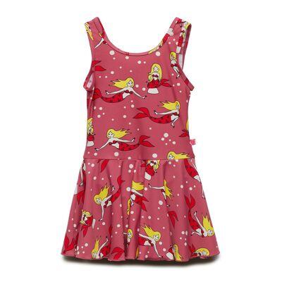 Småfolk Swim Dress. Mermaid Badedragt Badetøj Rød Småfolk - Børnetøj - Småfolk