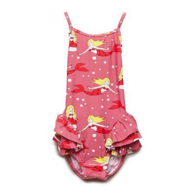 Småfolk Swimwear, Suit. Mermaid Badedragt Badetøj Lyserød Småfolk - Børnetøj - Småfolk