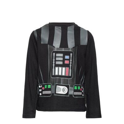 Star Wars Pyjalong Pyjamassæt Sort Star Wars - Børnetøj - Star Wars