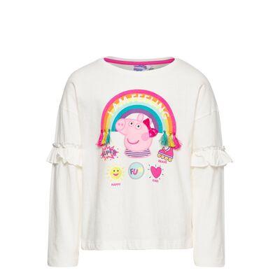 Peppa Pig Ts Ml Langærmet T-shirt Hvid Peppa Pig - Børnetøj - Peppa Pig