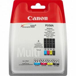 Canon CLI 551 4stk Sampak Sort/Cyan/Magenta/Gul,