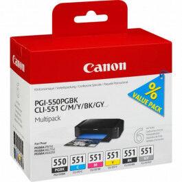 Canon PGI-550/CLI-551 combo pack 6 stk – 6496B005 – BK/C/M/Y/BK/GY 47 ml