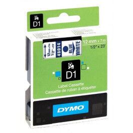 DYMO Tapekasette DYMO D1 blå/hvid 12mmx7m S0720540