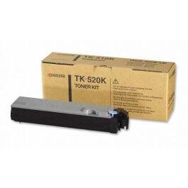Kyocera TK520 BK Lasertoner, Sort,  6000 sider