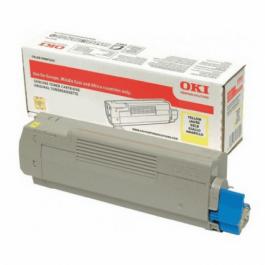 OKI C 823/833/843 Y lasertoner – 46471101  – Gul 7000 sider